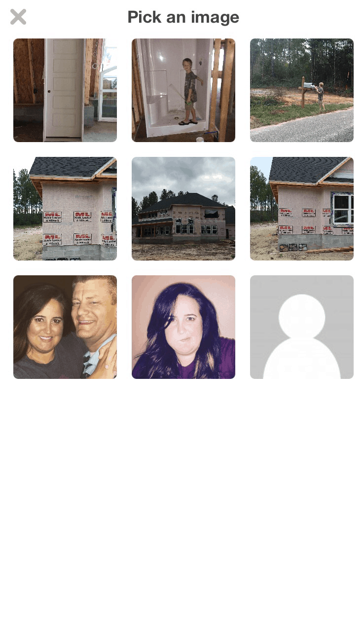 A thumbnail of all the pictures from the post where people voted on the exterior stone.