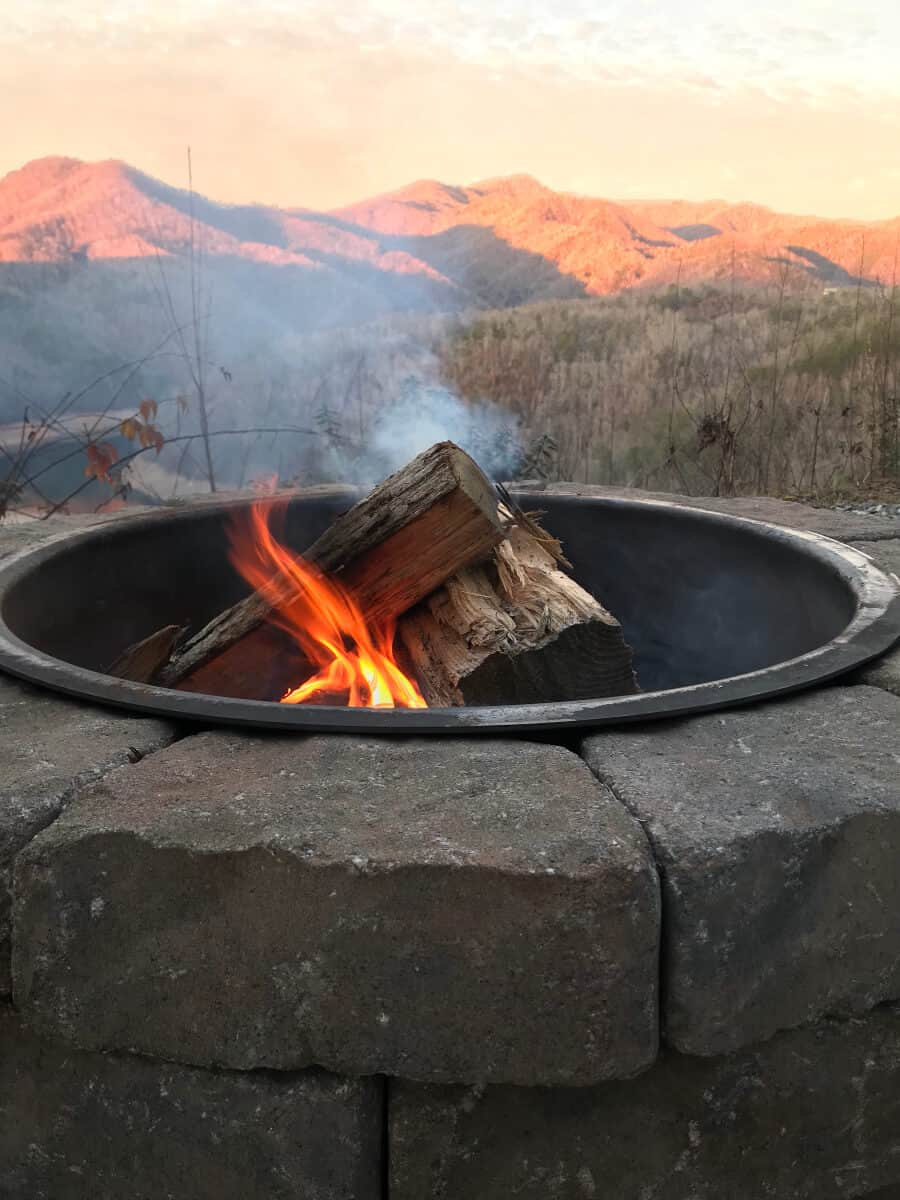 Smoky Mountains with a fire pit