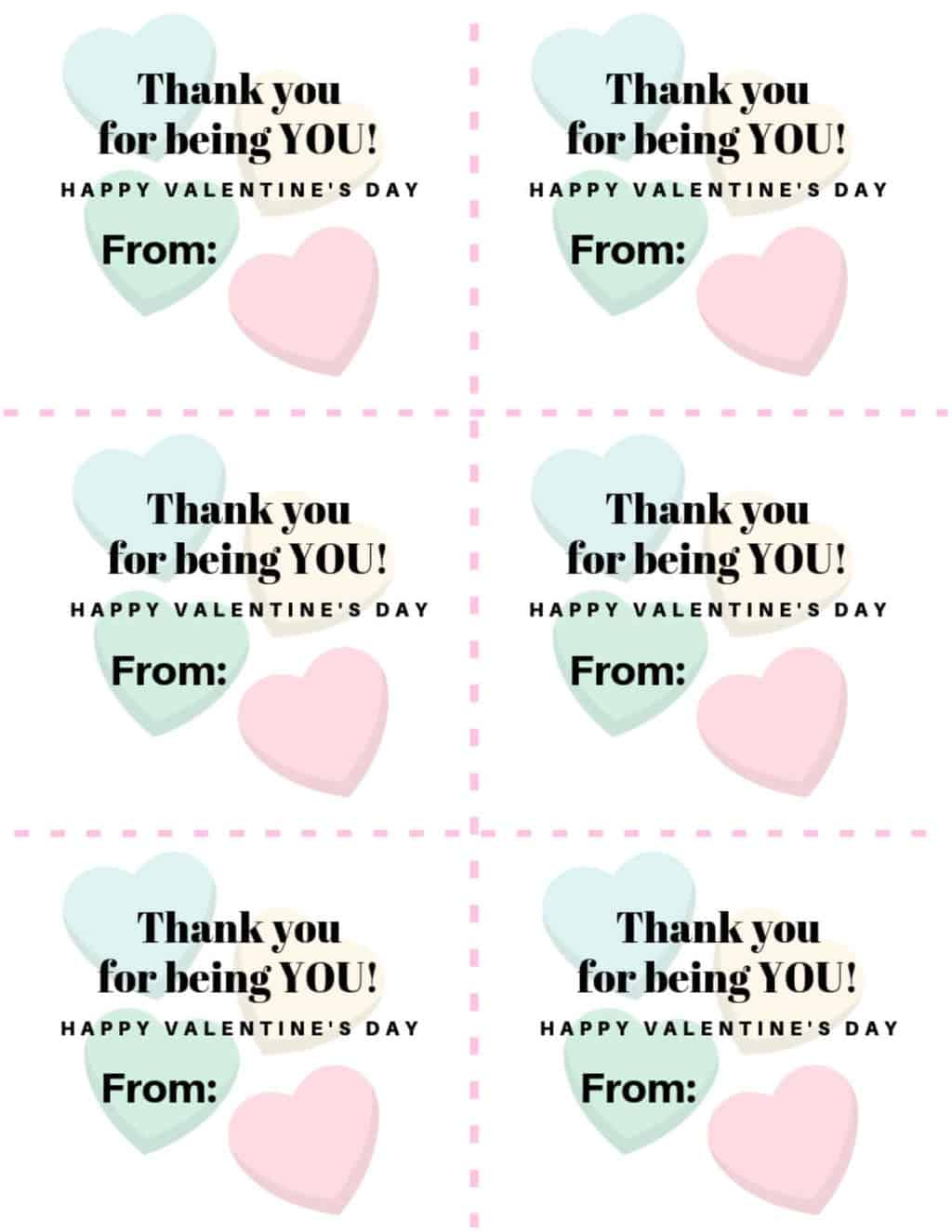 Candy Hearts Valentine's Day Card