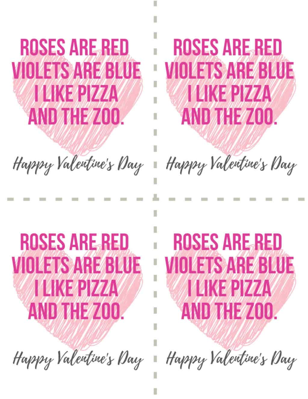 Valentine's Day Card Pink Hearts