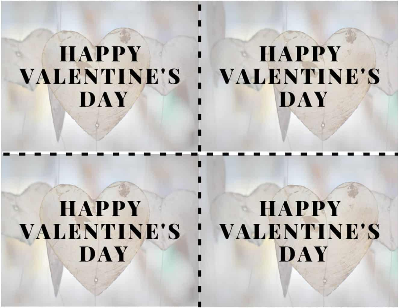 Rustic free valentine's day card