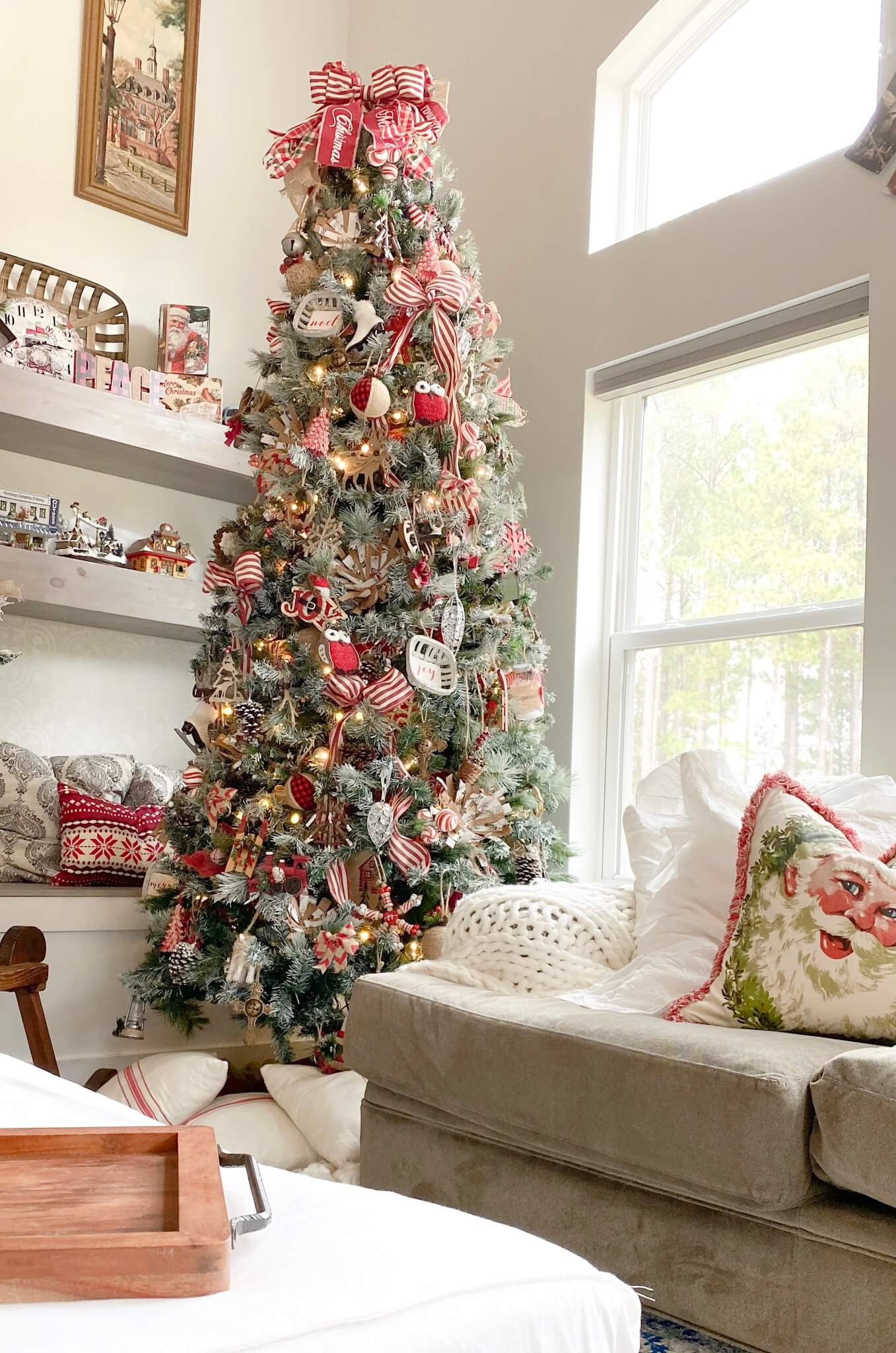 Christmas Tree With Traditional And Rustic Decor Tribe Of Burton