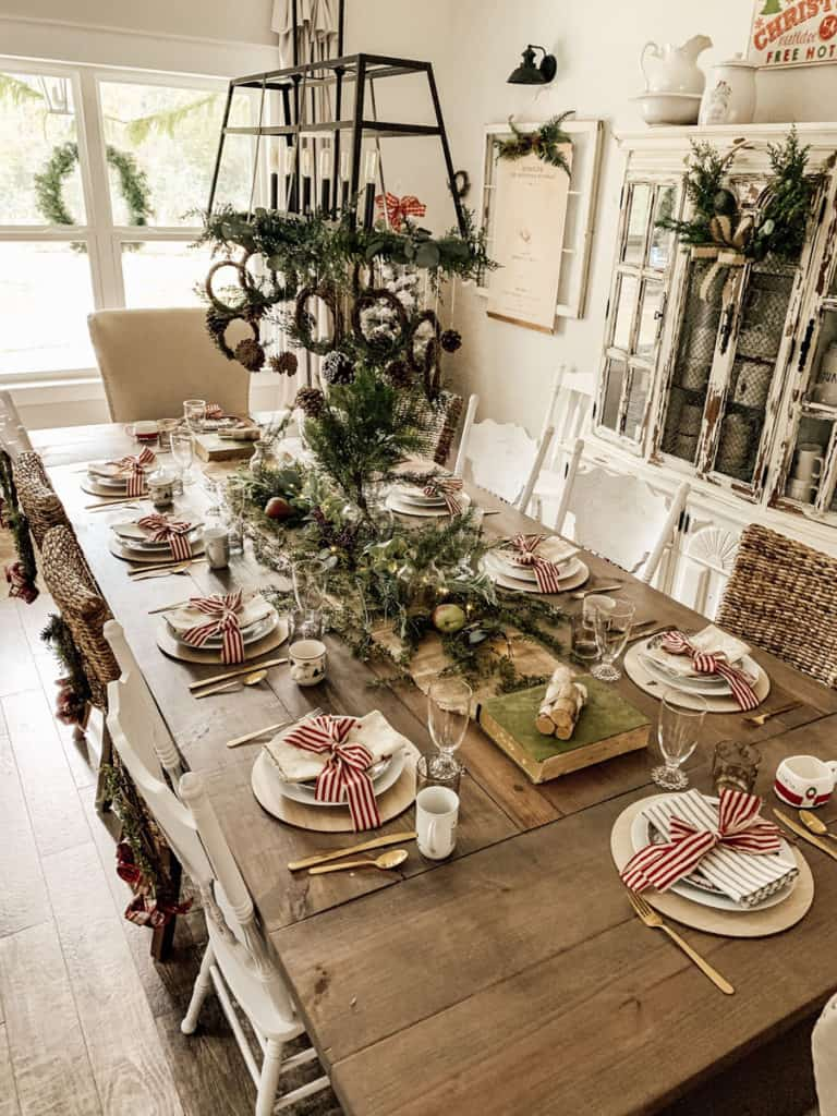 Christmas Home Tour Farmhouse table.