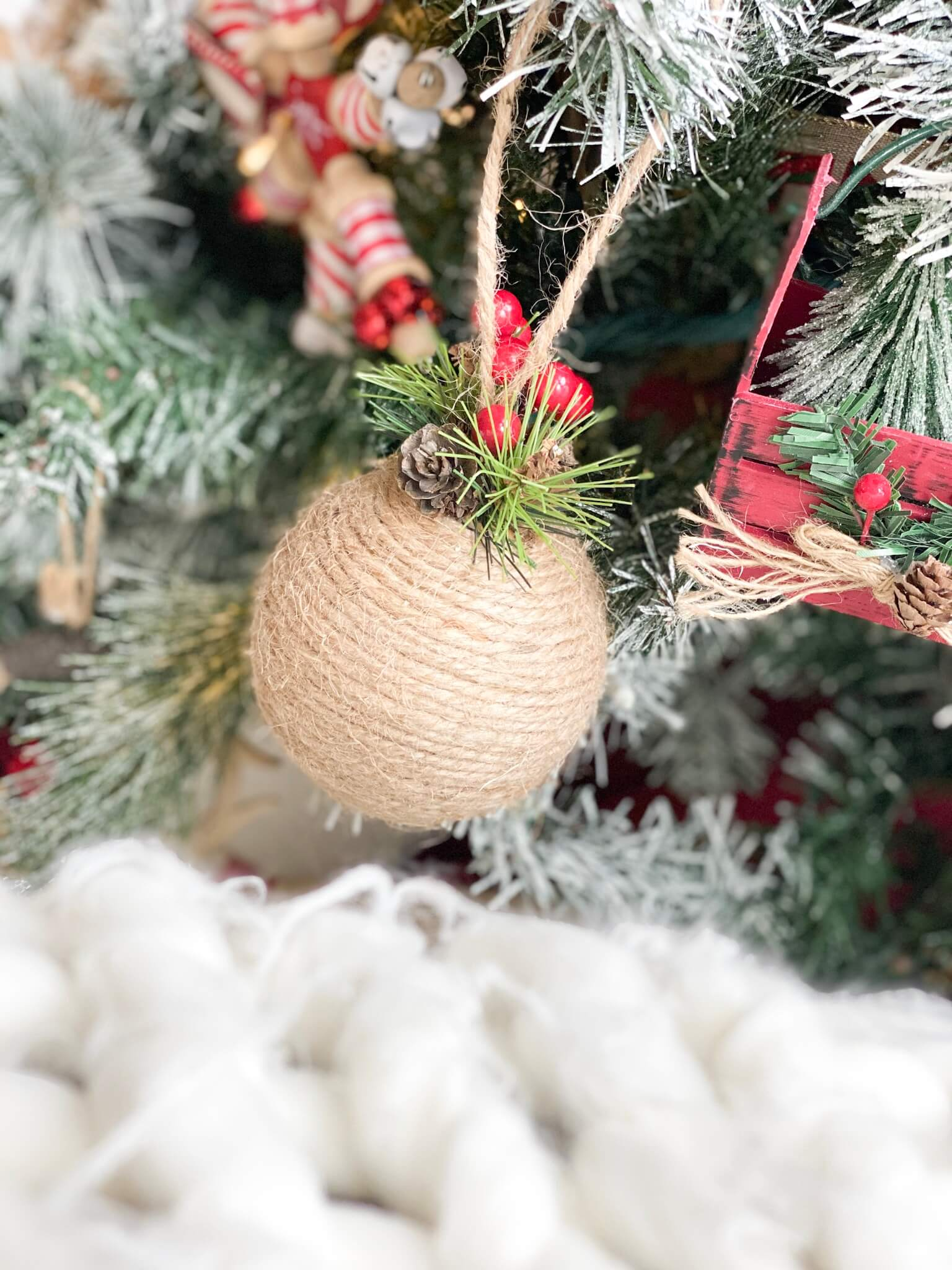 Ornament wrapped in twine