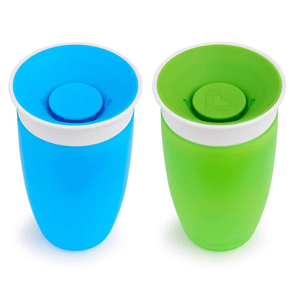 A Bright Blue and Green Sippy Cup