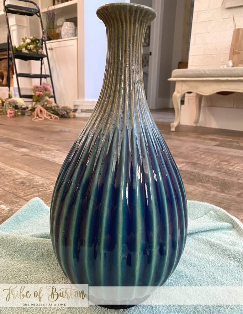 Cleaned Vase ready to paint.