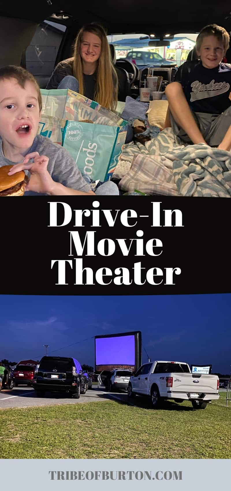 pinterest pin for drive in movie theater