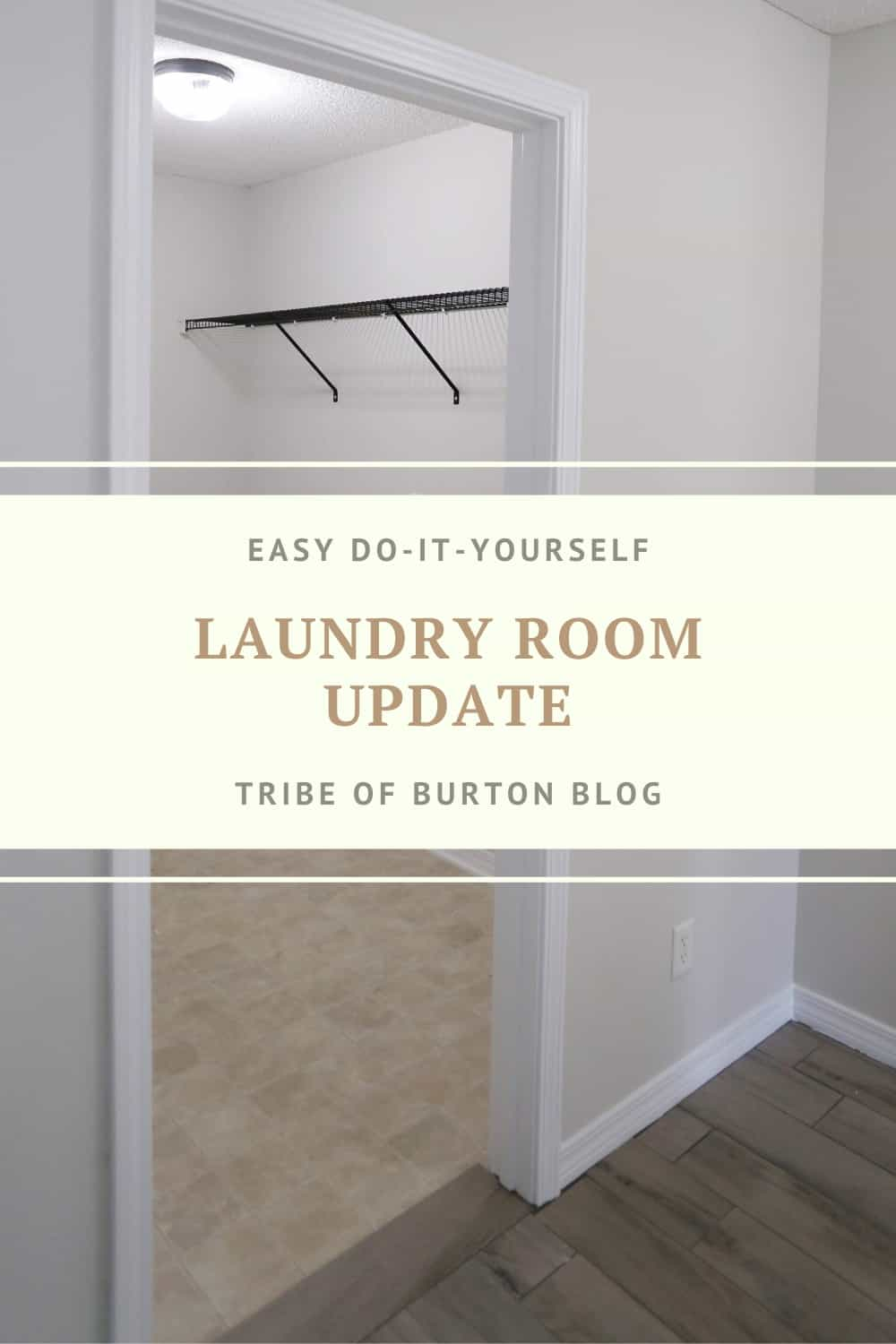 Laundry Room Update Pinterest Pin