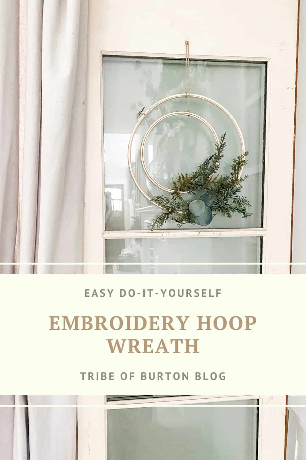 Pin for the post on the embroidery hoop wreath