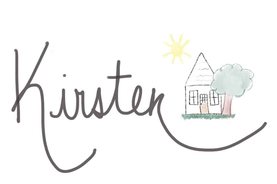 Kirsten signature with house