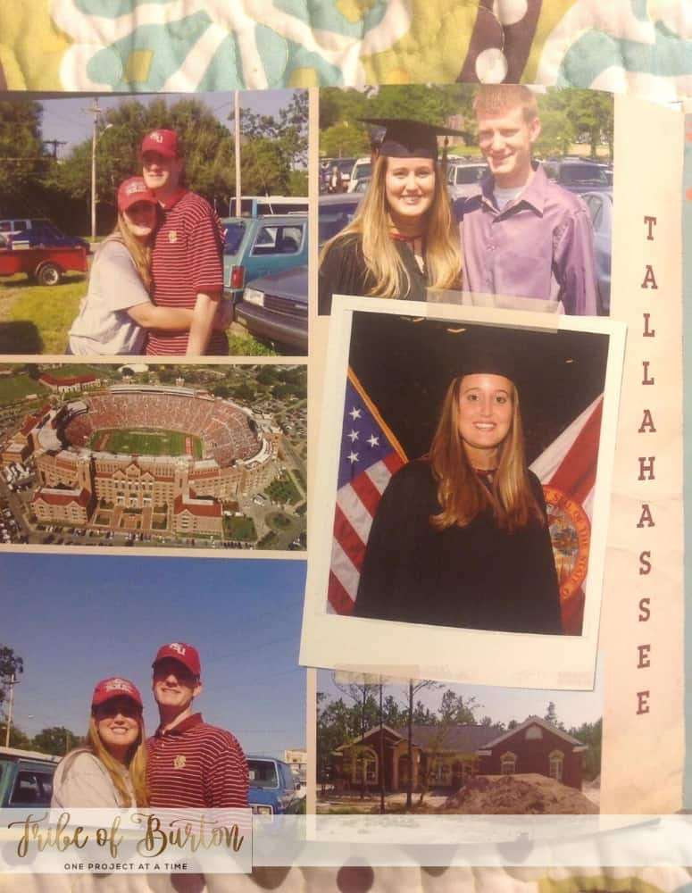 A collage of pictures from Florida State University.