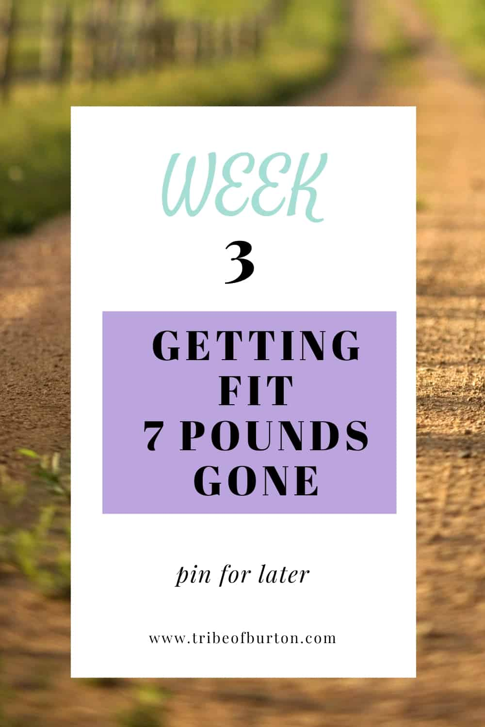 Week 3 Getting Fit Pinterest - 7 pounds gone