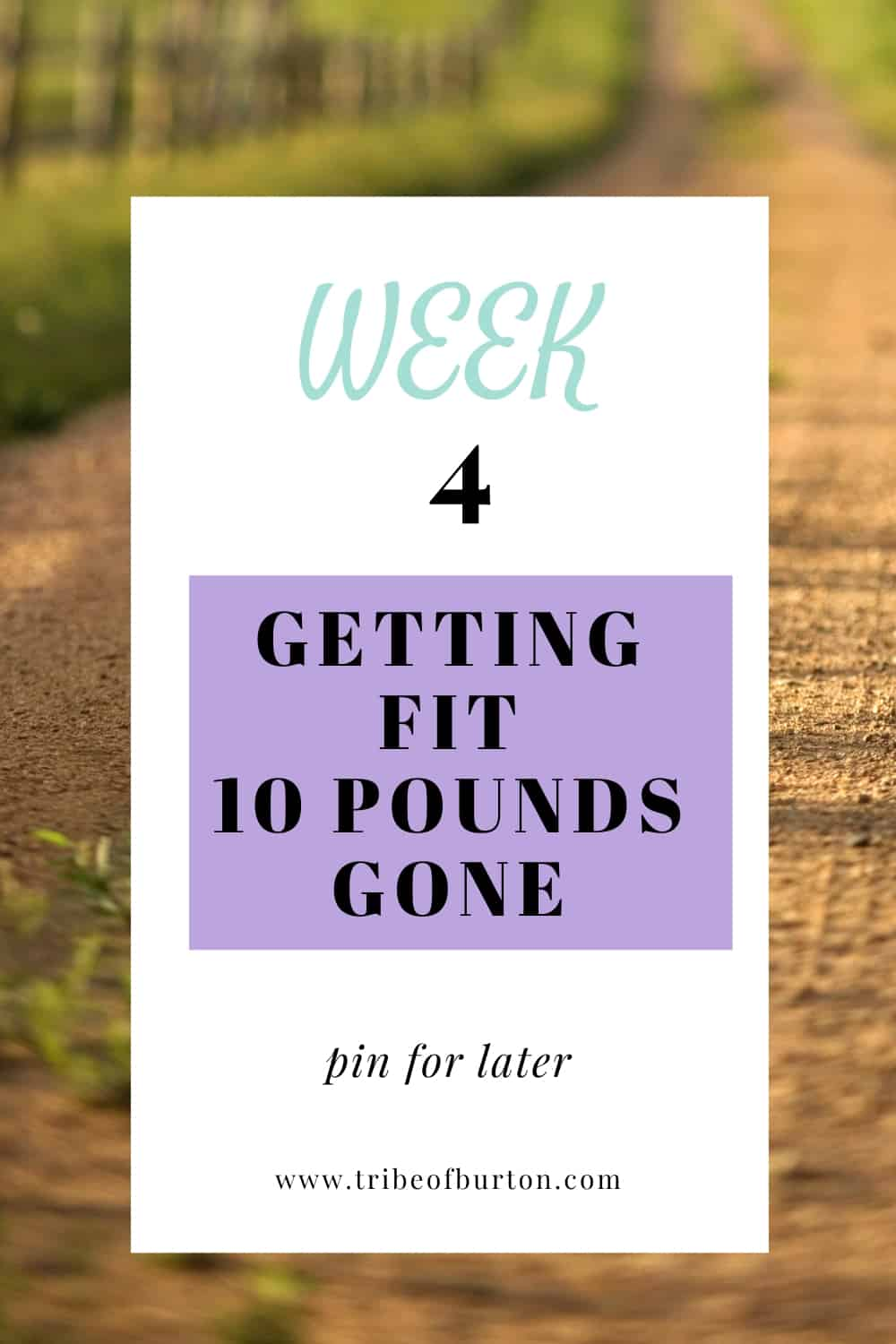 Week 4 pinterest pin lost 10 pounds