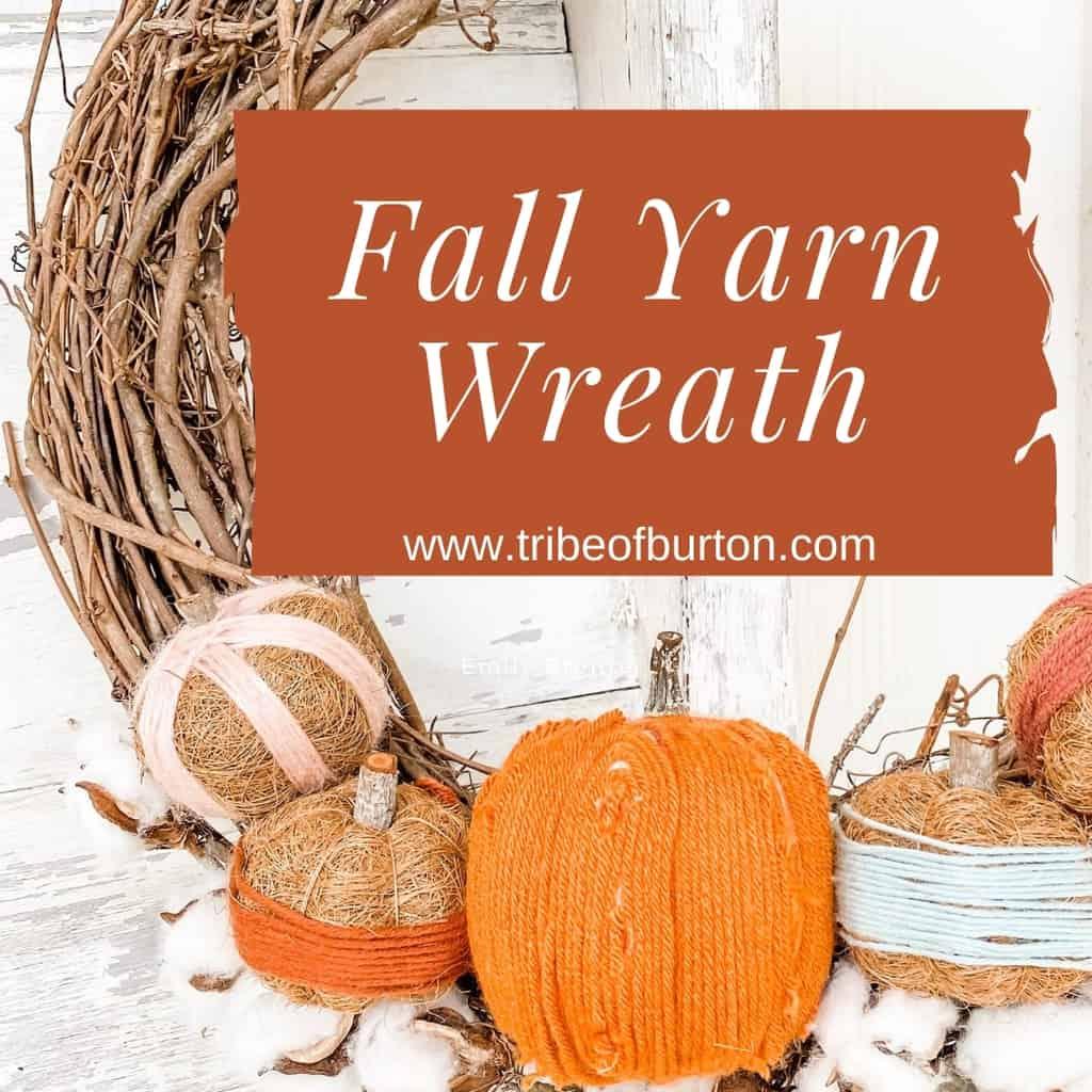 Pinterest Pin Fall Yarn Wreath