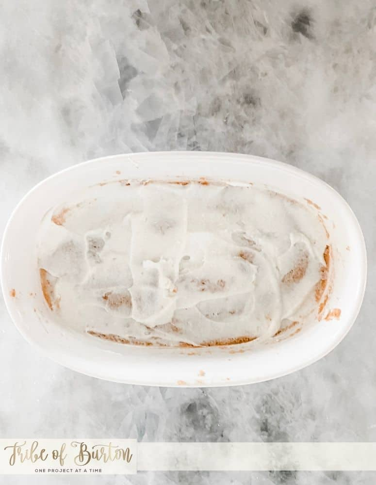 Sour Cream layer on top of the bean  layer