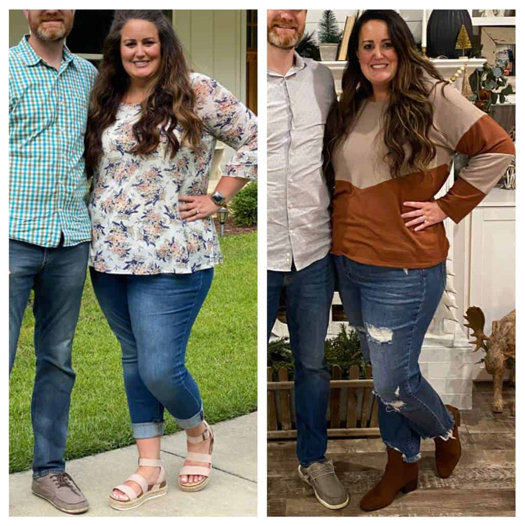 Before and During weight loss picture